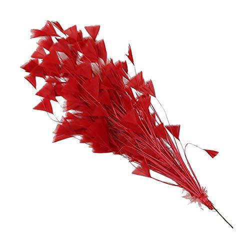 IPOTCH Bunter Dekoration Hahn Hahnfedern Feder Lila für Kostüme Hut Kleidung Deko - rot