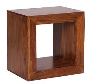 wohnling standregal massivholz sheesham 44cm hoch cube regal design holzregal natur produkt. Black Bedroom Furniture Sets. Home Design Ideas