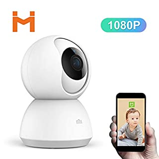 Wireless IP Camera 1080P,XiaoMI 360 HD Wireless Wifi Security Dome IP CCTV Camera Pan Tilt Surveillance With Night Vision Two-way Audio Motion Detection Indoor Remote View for Baby Elder Pet.