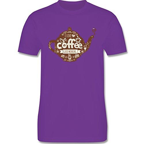 Statement Shirts - I Love Coffee Kanne - Herren Premium T-Shirt Lila