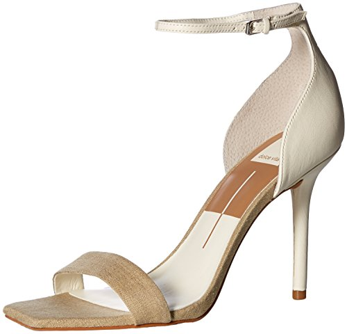 Dolce Vita-gladiator-sandalen (Dolce Vita Damen Halo Sandalen mit Absatz, Natural Multi Linen, 43 EU)