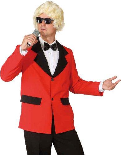 Preisvergleich Produktbild Fasching Herren Show-Jacke rot Größe 58 / 60