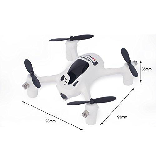 Ollivan® Hubsan X4 Plus H107D + Aktualisierte Version FPV Quadcopter 2.4GHz + 5.8GHz 6-Achsen 720P Kamera mit 4 LED Leuchten Nacht RTF Video Übertragung(Hubsan H107D+) - 3