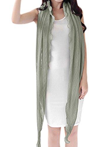 sourcingmap Femme Manches En Eventail Semi-transparente plissé Cardigan Gris
