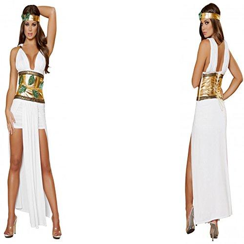 Kostüm Griechische Weibliche - Gorgeous Ägypten nach der griechischen Göttin Dämon weißen Kleid Bühnenkleidung