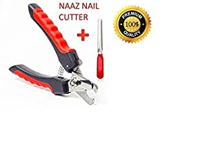 Naaz Pet Supplies Heavy Durability Professional Animal Nail Cutter Clipper Grinder Trimmer Filer for Small Medium Dogs Puppies Cats and Kittens Claw Grooming Tool Set (Red and Black) Small Size