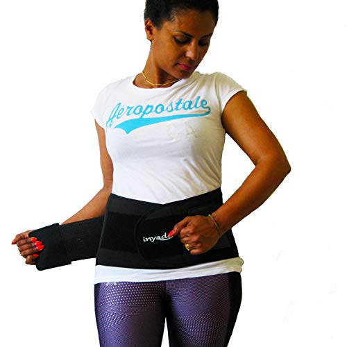 Fascia Lombare Supporto schiena, Cintura Lombare Posturale di Sostegno per la Prevenzione e Attenuazione da Dolore e Fastidi di Mal di Schiena per Uomo e Donna (Nero, XL)