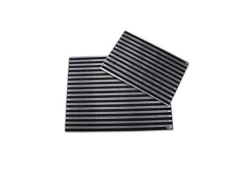SWmat Fußabstreifer für Innen und Außen | Aluminium | Fußmatte mit hoher Reinigungswirkung | Sauberlaufmatte | Eingangsmatte mit Alu Einbaurahmen | Textilbürste |Anthrazit 60 x 80 cm
