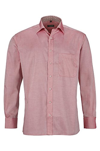 Eterna long sleeve Shirt COMFORT FIT Pinpoint uni rosso chiaro