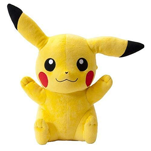 Ngel Cartoon Character Cute Pokemon Pokeball Pikachu Plush Stuffed Soft Toys Small Gift for Babies Kids Girls Yellow 40 cm