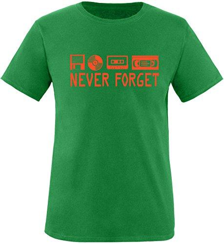 EZYshirt® Ich Irre ? Vielleicht sollte ich mal von meinem Einhorn steigen und dir eine knallen Crew-Neck T-Shirt Grün/Orange