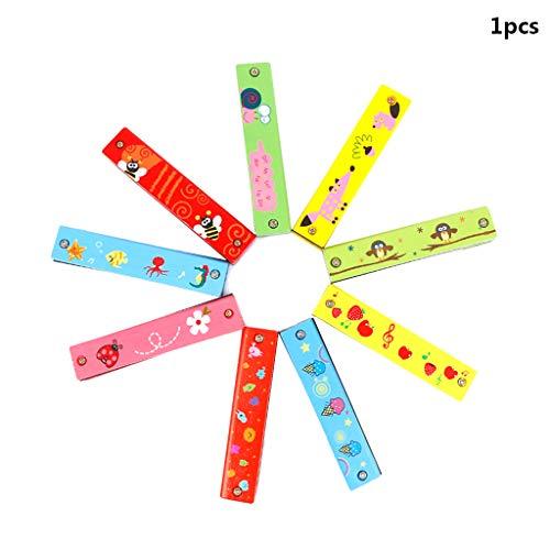 Fliyeong Premium Qualität Spielzeug für Baby Jungen Mädchen, Mundharmonika 16 Löcher Hooter Bugle Pädagogisches Spielzeug Geschenk Für Kinder