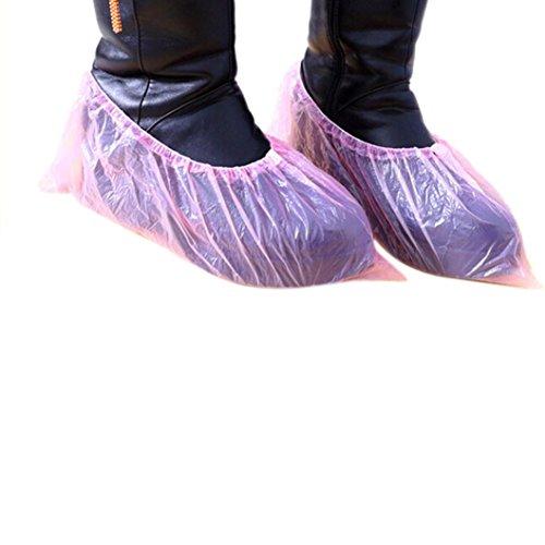 he, yuyoug 100Outdoor einmalartikel Teppich Reinigung Überschuhe für Schuhe und Stiefel zu schützen Teppiche und Böden Reinigung Zubehör, rose, Einheitsgröße (Teppich Zu Teppich Schützen)
