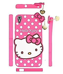 Cute Hello Kitty Silicone With Pendant Back Case Cover For Htc Desire 820