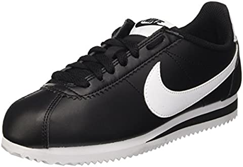 Nike Damen Classic Cortez Leather Gymnastikschuhe, Schwarz (Black/White/White), 40.5