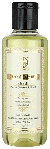 KHADI - Neem, Basil & Tea Tree Ayurvedic Hair Oil - 210ml by KHADI