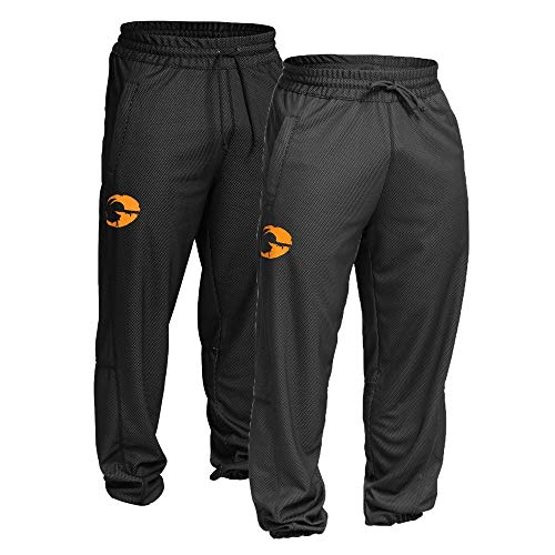 GASP Vintage Mesh Pants - Herren Trainingshose, Farbe:grau, Größe:XXL -
