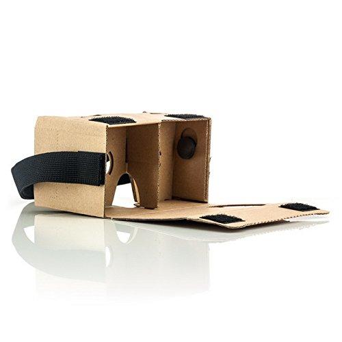Saxonia VR Cardboard 3D Brille aus Pappkarton für HTC One M7 M8 (2014) M8s und Mini (2) / M9 Virtual Reality Universal für Smartphones