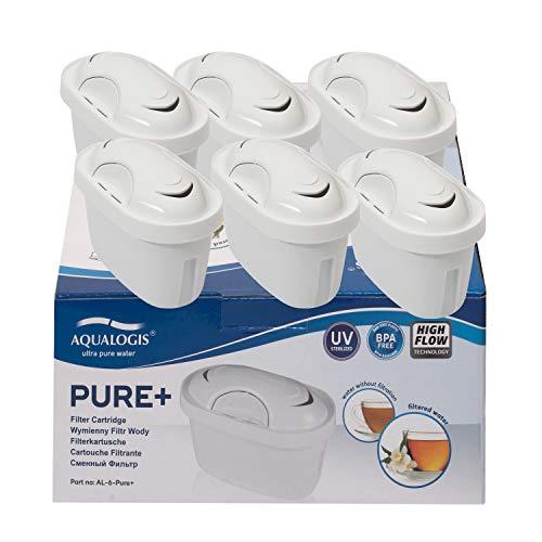Aqualogis Pure+ Wasserfilter, kompatibel mit Brita Maxtra+, Brita Maxtra Style Marella Cool Mavea Elemaris XL Brita Fun Water Jug (6)