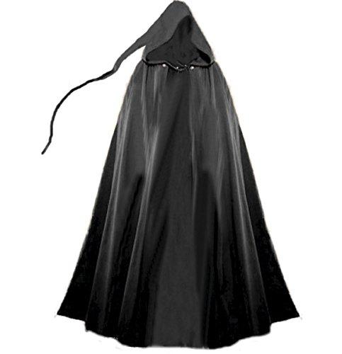 Winter Kostüm Larp - Dark Dreams Gothic Mittelalter LARP Umhang Mephisto , Größe:freesize;Farbe:schwarz