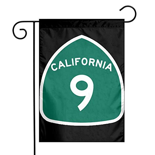 0 California State Route 9 Sign Garden Flag House Banner for Party Yard Home Outdoor Decor