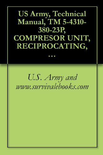 US Army, Technical Manual, TM 5-4310-380-23P, COMPRESOR UNIT, RECIPROCATING, 25 CFM, 175 PSI, ELECTRIC MOTOR DRIVEN MODEL 10HT8G, NSN: 4310-01-198-9365, ... manauals, special forces (English Edition) (Cfm-motor)