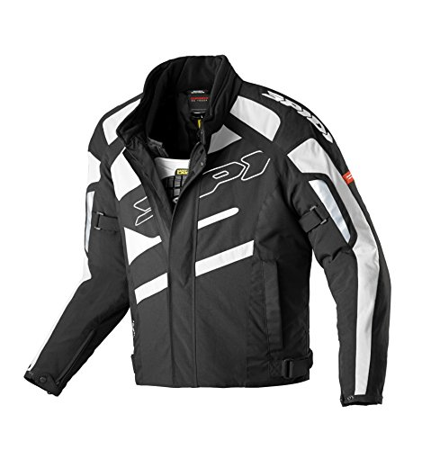 Spidi - Giacca da Moto in Tessuto H2OUT SP33D, Nero/Bianco, XL