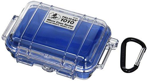 Pelican 1010–025–100micro-case mit transparentem Deckel und Karabiner