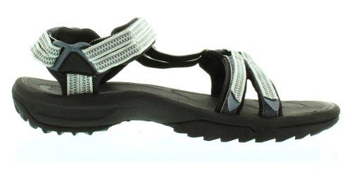Teva Terra Fi Lite W's Damen Sport- & Outdoor Sandalen, Blau, 12 US Women Silber (double zipper grey 984)