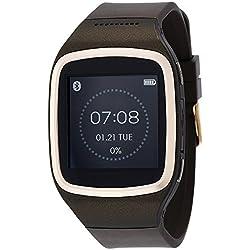 Mykronoz KRZESPLASH-BROWN - Smartwatch resistente al agua de 1.54'' (WiFi+Bluetooth, USB), marrón