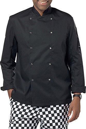ng Economy Langarm Jock Jacke Extra Komfort Chefswear - Schwarz, XXXL (Jock Jacke)