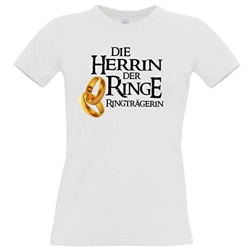 T-Shirt für den Junggesellinnenabschied mit dem Motiv Herrin der Ringe Ringträgerin, Größe S