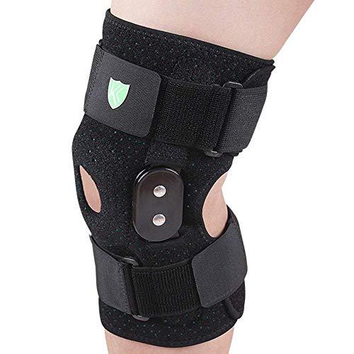 Zwbdb Protective Knieschützer, Festes Kniegelenk Schutz Knie Meniskusverletzung Fracture Bänderdehnung Kneepad (1 Paar)
