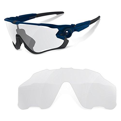 sunglasses restorer Lenti di Ricambio Trasparenti per Oakley Jawbreaker Kit Lenti Sostitutive | Lente di Ricambio per Occhiali da Sole