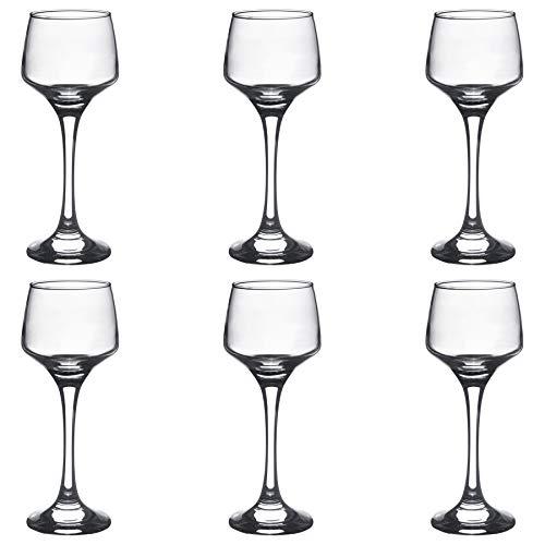Argon Tableware Sherry- / Likörgläser - 80 ml - 6 Stück mit Geschenkverpackung Sherry Glas