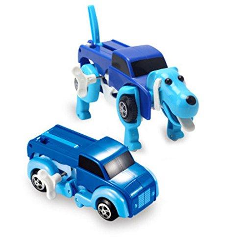 Sammlung Transformator-spielzeug (Der Hund Auto Transformator Neuheit Uhrwerk verformbare Auto Hund Neujahr Kinder Spielzeug)