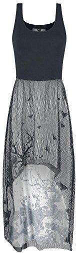 Black Premium by EMP Under Your Tree Kleid grau/schwarz Grau/Schwarz