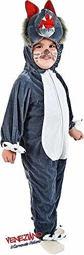 Fancy Me Italienische Herstellung Kleinkinder Jungen Mädchen Großer böser Wolf Märchen Welttag des Buches Halloween Werwolf Kostüm Kleid Outfit 12-36 Monate - 3 Years