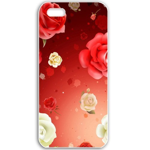 Apple iPhone 5 5S Cases Customized Gifts For Flowers roses hd widescreen Flowers Black