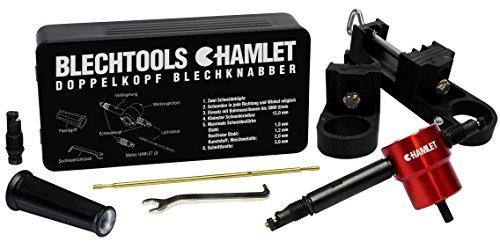 Blechtools Hamlet Blechnibbler L8 Schneidegerät Set mit 8cm Verlängerung inkl. 2 Unihaltern