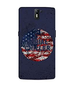 """NH10 DESIGNS 3D PRINTING DESIGNER HARD SHELL POLYCARBONATE """"SERIAL CHILLER USA"""" PRINTED SHOCK PROOF WATER RESISTANT SLIM BACK COVER MATT FINISH FOR ONE PLUS 1/ONEPLUS 1/ONEPLUS1"""