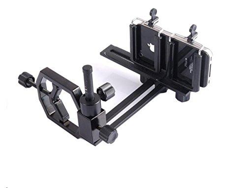 JOYOOO Adattatore universale digiscoping macchina fotografica digitale videocamera con 2 Cellulari Supporti per Telescopio Microscopio Binoculare