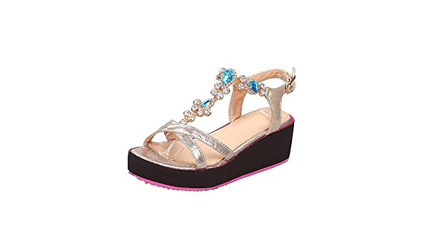 Sandales Bout Ouvert Femme The White Brand Glitter