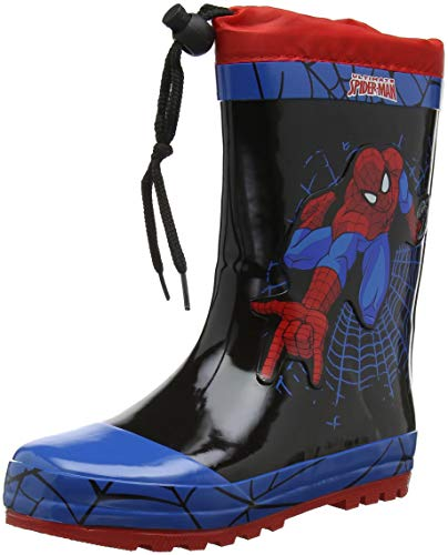 Spiderman Stiefel - Spiderman Jungen SP004526 Gummistiefel, Blau (C.Blue/Black/Red),