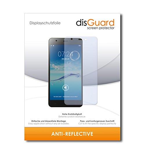 disGuard® Bildschirmschutzfolie [Anti-Reflex] kompatibel mit Jiayu S3+ [2 Stück] Entspiegelnd, Matt, Antireflektierend, Extrem Kratzfest, Anti-Fingerabdruck - Panzerglas Folie, Schutzfolie