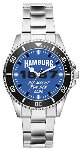 KIESENBERG - Hamburg Geschenk Fan Artikel Zubehör Fanartikel Uhr 6044