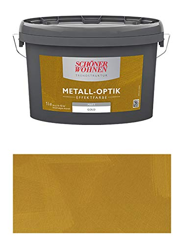Schöner Wohnen 1 L. Metall-Optik Effektfarbe Gold matt, für ca. 10 m²