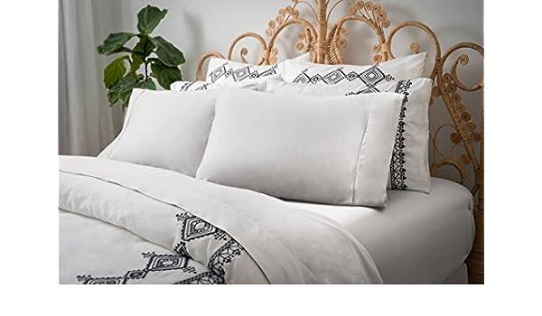 White COMINHKR016440 Magnolia Organics Dream Collection Sheet Set Twin