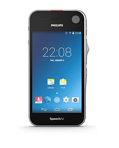 Philips PSP1100 SpeechAir Diktiergerät mit Schiebeschalter auf Android Basis, Touchscreen, Kamera, optimiert für Spracherkennung, WLAN, Bluetooth, Schwarz Touch-screen-kameras