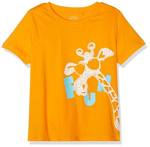 NAME IT Jungen NMMVAGNO SS LOOSE TOP H T-Shirt, Orange (Flame Orange), (Herstellergröße: 116)